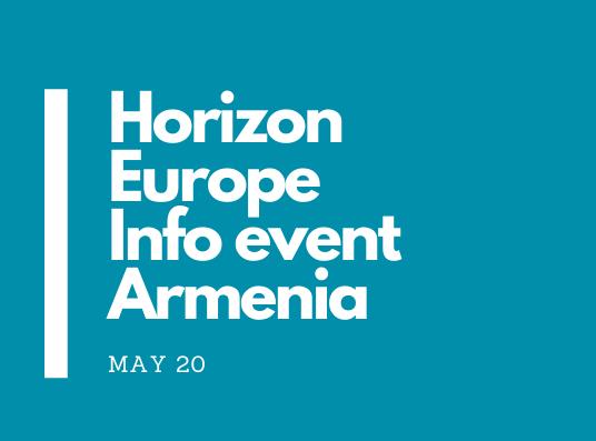 Horizon Europe Info event Armeniacc